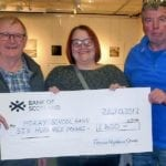 Moray School Bank receive boost from the Forres Highland Games