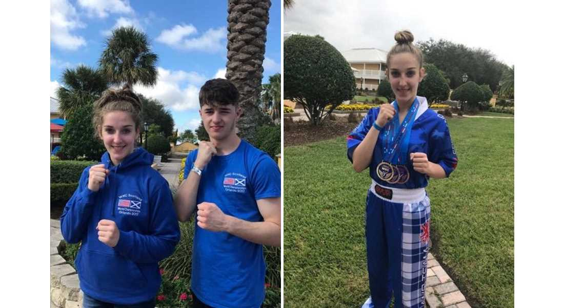 Full Set' of World Championship medals earned by Moray Kickboxers