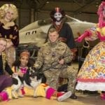 UK Forces 'Panto Bus' calls in to delight RAF Lossiemouth families
