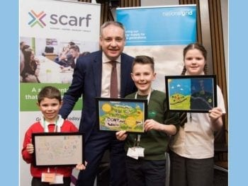 Permalink to: Moray trio pick up their prizes in Scarf annual calendar competition