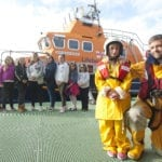 Young carers receive a lesson in lifesaving at Buckie Lifeboat Station